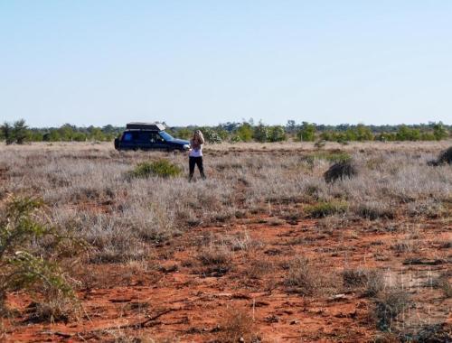 Hervé et Aurélie dans l'outback