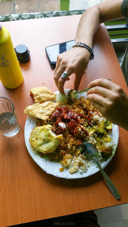 Un repas typique et ma bague fétiche