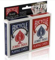 Kártyák Bicycle – Rider Back, jumbo index póker kártya, dupla