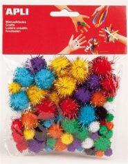 Kreatív Pom-pom, csillogó vegyes színekbe 78db/csomag