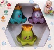 Fejlesztő játékok Bébi játék – Polip fürdőjáték