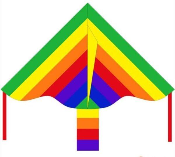 Szabadtéri játék Invento Eco Line Simple Flyer Rainbow sárkány – 85 cm