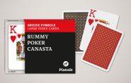 Kártyák Rummy Poker Canasta – Nagyindexes