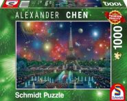 Puzzle Schmidt Puzzle – Fireworks at the Eiffel Tower, 1000 db