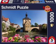 Schmidt Puzzle – Bamberg, Regnitz and Old Town hall, 1000 pcs