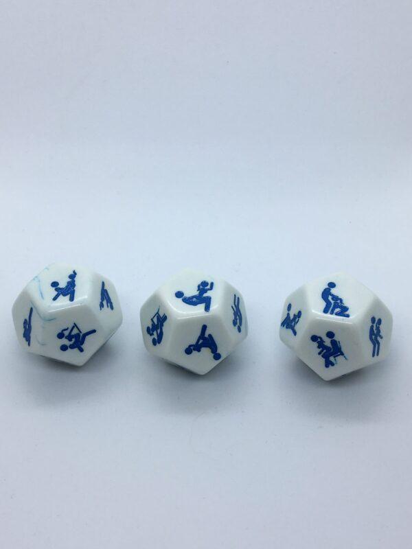 Játékalkatrészek Dobókocka-Erotika 2.-12 oldalú 25mm-kék
