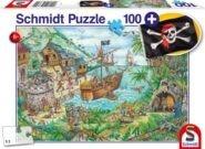 Puzzle Schmidt Puzzle – Kalóz öböl, 100 db (ajándék kalóz zászlóval)