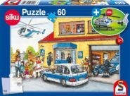 Puzzle Schmidt Puzzle – Police helicopter, 60 db (ajándék helikopterrel)