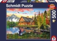 Puzzle Schmidt Puzzle – Angeln am See 500 db
