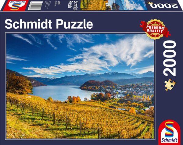 Puzzle Schmidt Puzzle – Vineyards, 2000 pcs