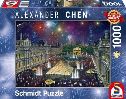 Puzzle Schmidt Puzzle – Fireworks at the Louvre 1000 db