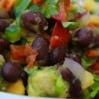 Black Bean Salad with Peaches