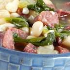 Sausage, Kale, and White Bean Soup