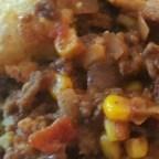 Cornbread Chili Bean Casserole