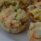Crab and Artichoke Tarts