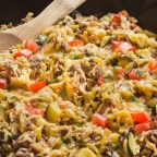 Cheeseburger Rice Skillet