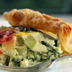 Beet, Greens, and Zucchini Tart