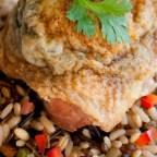 Easy Spinach and Arugula Chicken