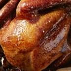 Roast Turkey with Cranberry and Pomegranate Glaze