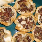 Chanterelle Mushroom and Bacon Tartlets
