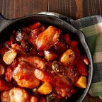 One-Skillet Roasted BBQ Chicken and Vegetables