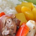 Orange Beef Kabobs with Grilled Fruit