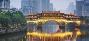Famous Bridge in Chengdu