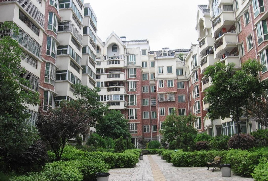 Chinese apartment complex