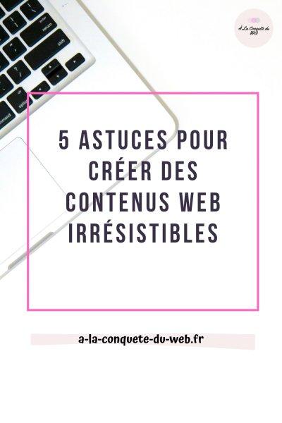 Contenu web irresistible