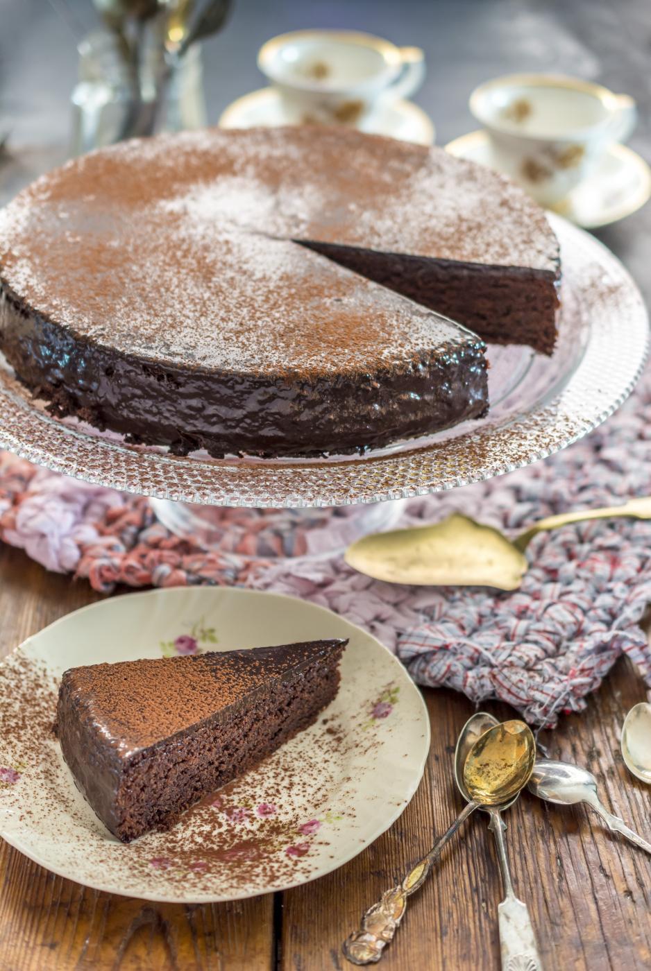 Taivaallinen ruis-suklaakakku