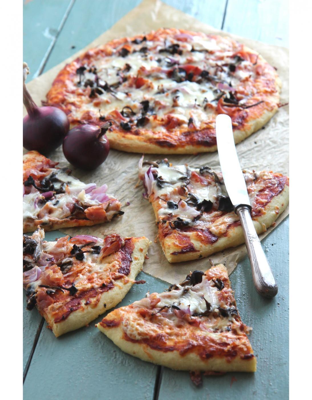 Suppilovahveroinen pizza