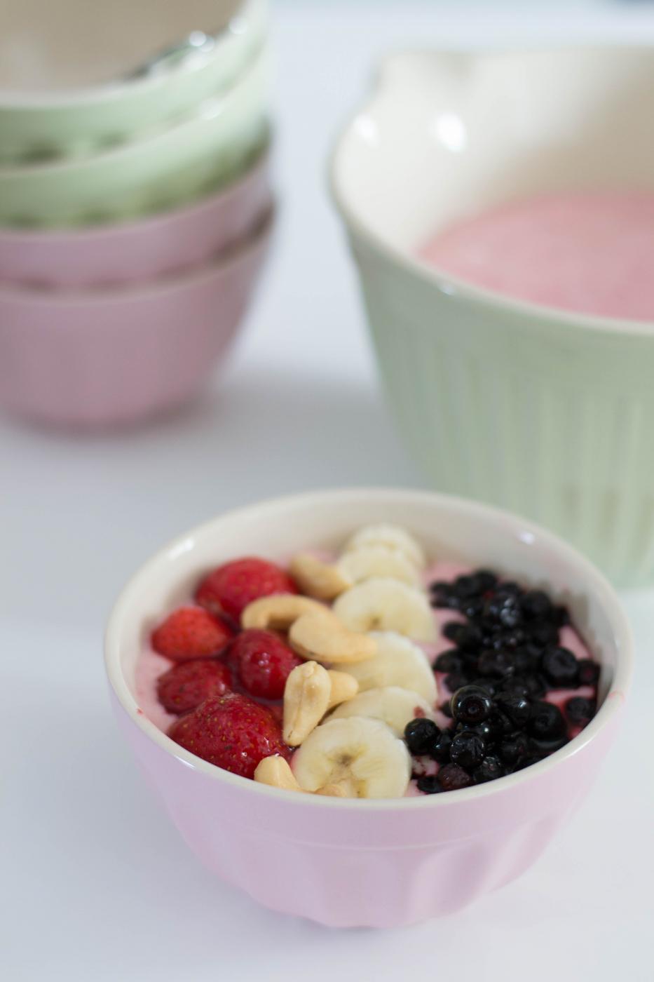 Smoothie bowl – Lusikoitava smoothie