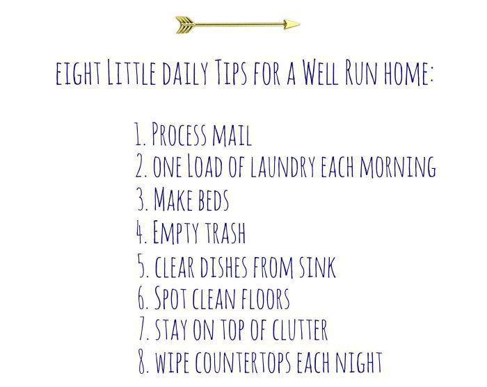 Eight Daily Tips