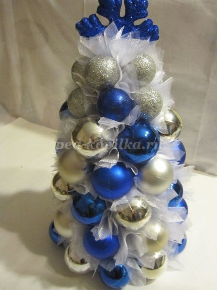 (+56 photos) Christmas tree from the balls do it yourself master class