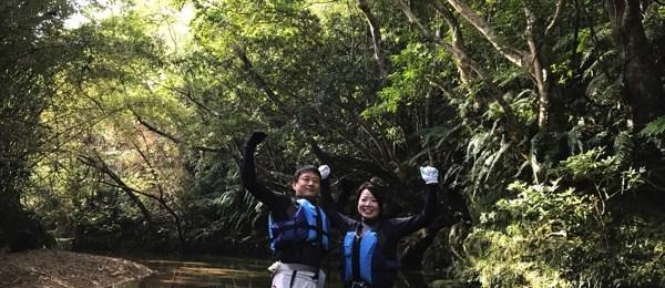沖縄|リバートレッキング|川遊び