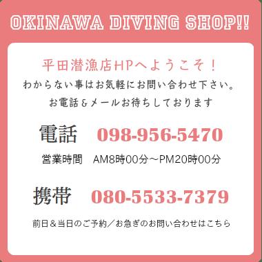 ☎098−956−5470/平田潜漁店
