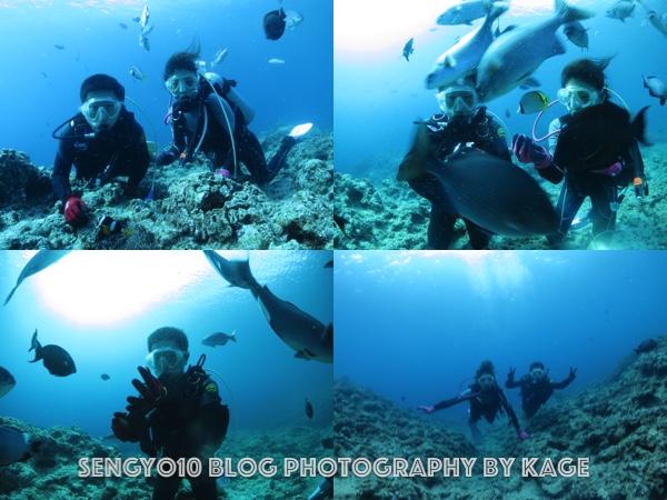 沖縄ダイビング|早朝青の洞窟3