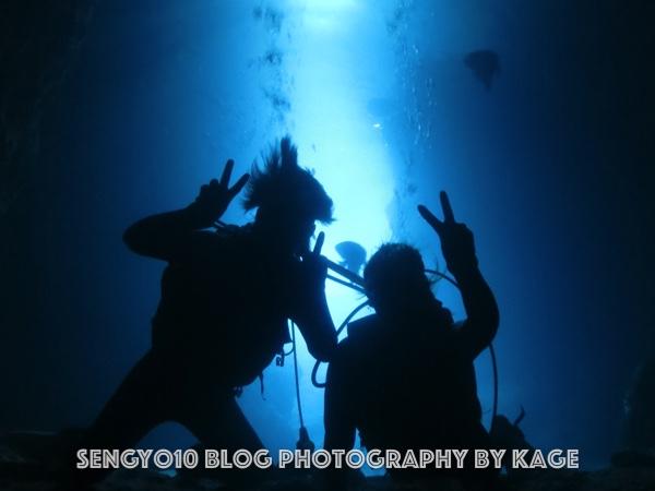 沖縄体験ダイビング 早朝青の洞窟ダイビング2