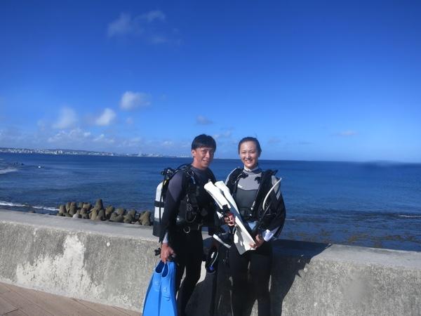 砂辺2ビーチダイビング!台風8号接近中だけど波は大丈夫◎