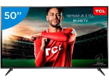 """Smart TV LED 50"""" TCL 4K/Ultra HD P65US Linux - Conversor Digital Wi-Fi 3HDMI 2 USB DLNA"""