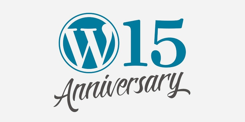 WordPress 15th anniversary - a-support.dk