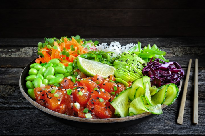 Poke Bowl with Compressed Watermelon