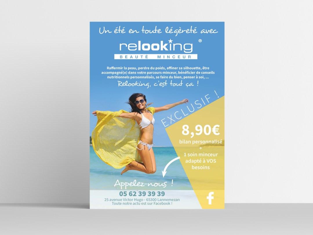 Graphiste Lannemezan - conception flyer promotion été Relooking Lannemezan
