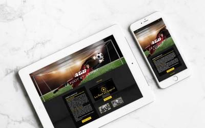 Conception et réalisation du site internet de l'Académie de gardiens de but