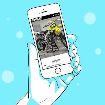 création de la boutique en ligne de Race Design 65