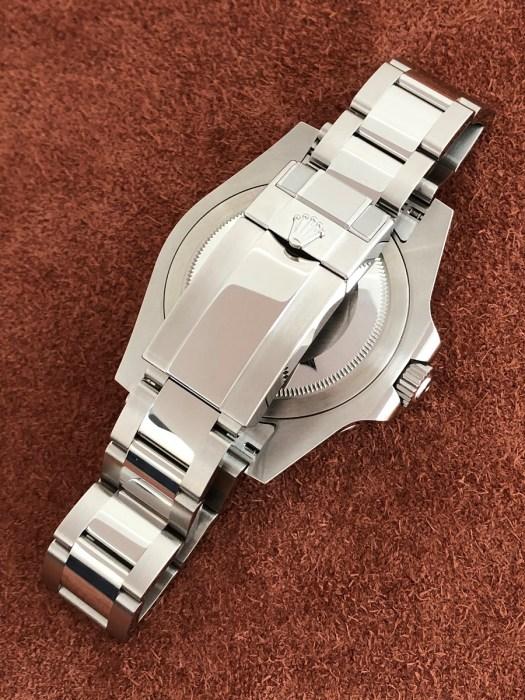 ロレックス(ROLEX)GMTマスター2 Ref.116710LN SS 黒文字盤 ブラックベゼル 未使用のバックル側から