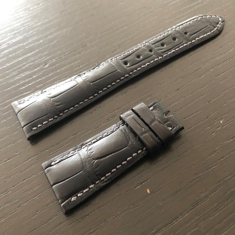 パテックフィリップ(PATEK PHILIPPE)純正 レザー(革)ベルト 21×16mm Dバックル用 未使用2-00