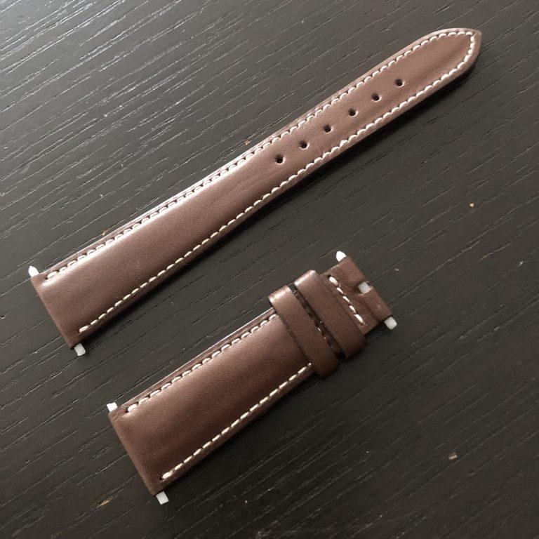 パテックフィリップ(PATEK PHILIPPE)レザー(革)ベルト 20×16mm ライトブラウン×アイボリーステッチ 未使用7-00