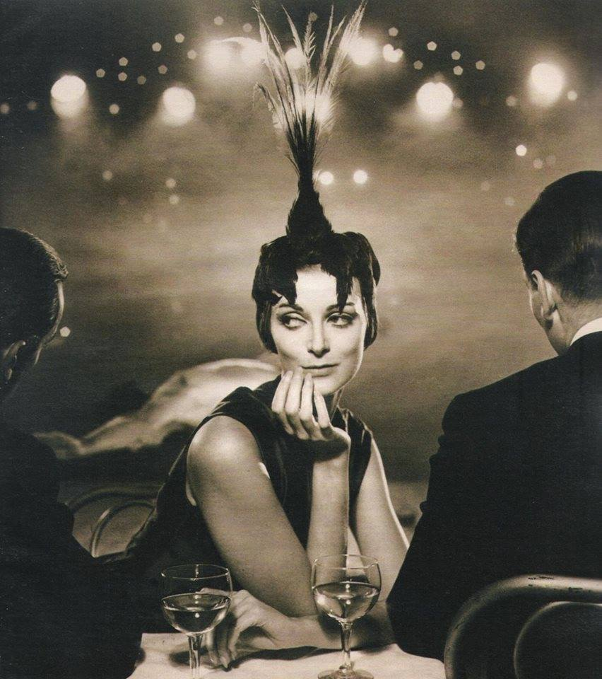 At Le Folies Bergere de Paris |Harper's Bazaar - October 1957 | Photo by Richard Avedon