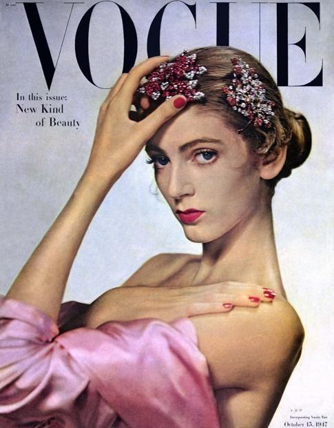 First Vogue cover, 1947 | Photo: Edwin Blumenfeld